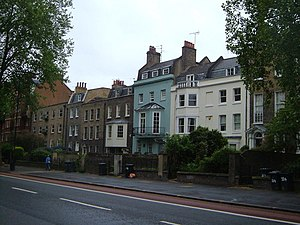 Kennington - Kennington Road was constructed in 1751, and houses were soon built along it.
