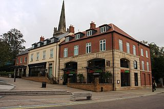Kettering town in Northamptonshire, England