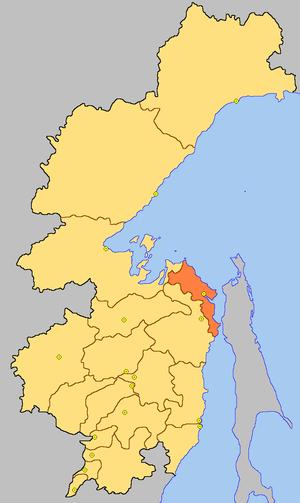 Николаевский район на карте