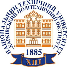University seal, with brown academic building on yellow background