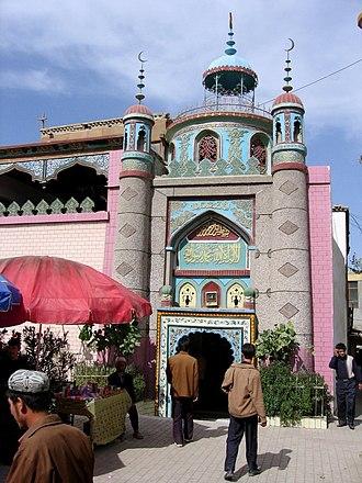Uyghurs - A Uyghur mosque in Khotan.