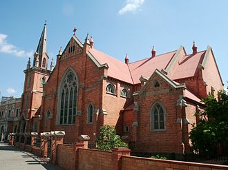Methodist Church of Southern Africa - A larger church in Kimberley, Northern Cape.