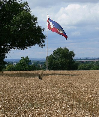 Ambion Hill - White Boar Banner of King Richard III on Ambion Hill