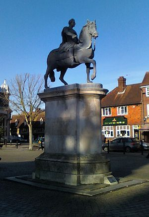 Petersfield - The statue of King William III in The Square