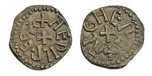 Styca - A styca of Æthelred II of Northumbria