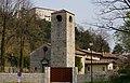 Kirche zum hl. Rochus und Schloss in Polcenigo, Provinz Pordenone, Italien, Europäische Union.jpg