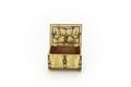 Kistformigt litet skrin med lås och plant lock - Skoklosters slott - 91921.tif