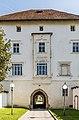 Klagenfurt Viktring Stift Prälatur Portal mit Erker West-Ansicht 23092017 1131.jpg