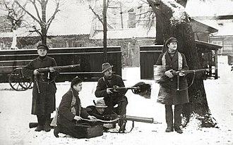 Klaipėda Revolt - Lithuanian rebels dressed in civilian clothes