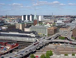 View of central Stockholm from the City Hall tower. Image: Holger.Ellgaard.