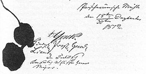 Convention of Tauroggen - The original signatures of Yorck and Diebitsch