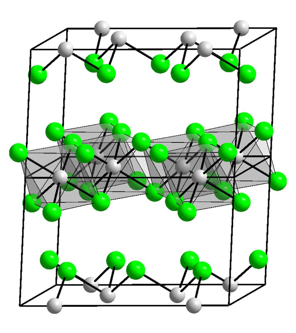 Kristallstruktur Chrom(III)-chlorid