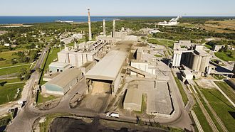 Industry - A factory, a traditional symbol of the industrial development (a cement factory in Kunda, Estonia)