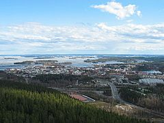 Kuopio viewed from the Puijo Tower