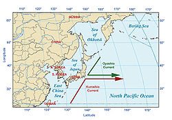pacific ocean currents and temperature  The North Pacific Current.