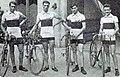 L'équipe de France championne olympique de la course par équipe cycliste sur route (G. à D. Canteloube, Detreille, Souchard et Gobillot).jpg