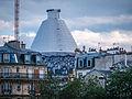 L'installation Au Panthéon de JR vue du Parvis Notre-Dame, Paris août 2014.jpg