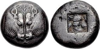 Ionian Revolt - Coin of Lesbos, Ionia. Circa 510-480 BC.