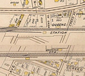 Queens Village (LIRR station) - 1909 Map of Queens (now Queens Village) station.