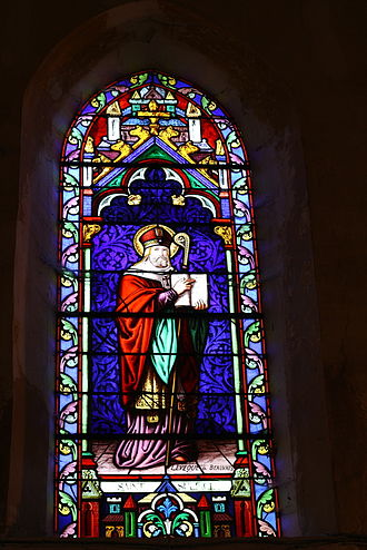 Sulpitius I of Bourges - St. Sulpice window at La Celle-sur-Morin