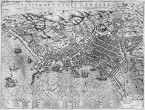 Poggio Reale (villa) - Image: La Citta di Napoli Gentile c 1590