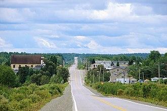 Quebec Route 397 - Route 397 through La Morandiere