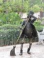 La muerte de Posada, escultura del Jardín de San Marcos (1).JPG