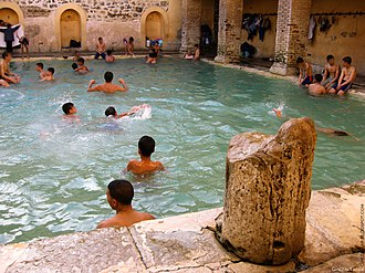 Public service - Roman public bath, still in use