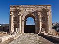 La porte nord et l'extrémité nord du Cardo - Jerash - Novembre 2014 12.jpg
