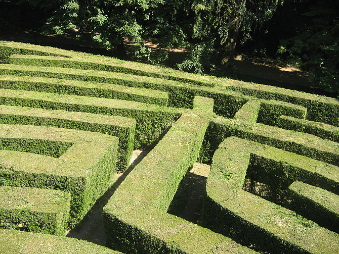 The labyrinth of villa Pisani, Stra (Venice, I...