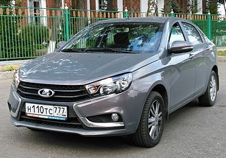 Automotive industry in Russia - Lada Vesta went into production in 2015