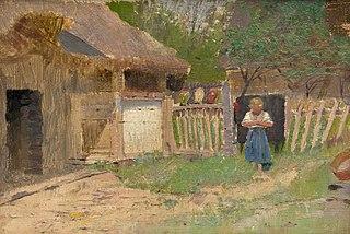 Girl in a Farmyard