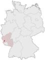 Tyskland, beliggenhed af Trier markeret