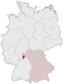 Lage des Landkreises Miltenberg in Deutschland.PNG