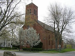 St. Patricks Catholic Church, founded in 1836 on the Wabash & Erie Canal