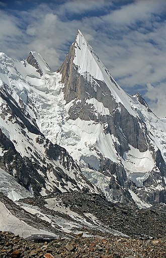 Gilgit-Baltistan - View of Laila Peak, which is located near Hushe Valley (a town in Khaplu)