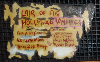 The Hollywood Vampires celebrity drinking club formed by Alice Cooper in the 1970s