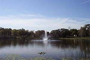 "Maitland, Florida - Maitland is peppered with a number of lakes, including ""Lake Lily"" pictured here."