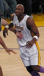 Lamar Odom in a Lakers/Spurs game, January 28, 2007