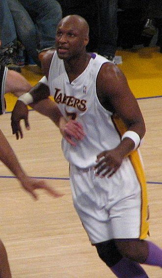 Lamar Odom - Odom in a Lakers vs Spurs game in 2007.