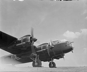 RAF East Wretham - Engine testing on a Lancaster B Mark II of 115 Squadron at RAF East Wretham, 1943