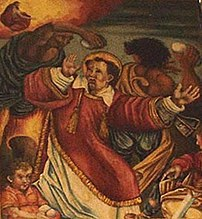 The lapidation of Saint Stephen