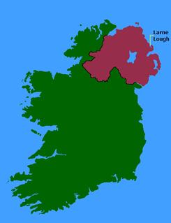 Larne Lough lake in the United Kingdom