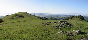 Las Trampas Regional Wilderness - Panoramic view near the junction of Rocky Ridge and Sycamore trails