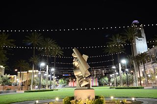 Symphony Park in Downtown Las Vegas.