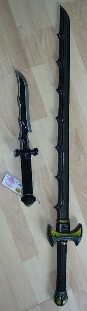 Foam weapon - A latex sword and dagger.