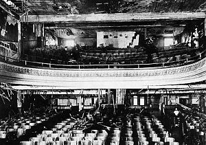 Laurier Palace Theatre fire - Theatre interior, January 10, 1927