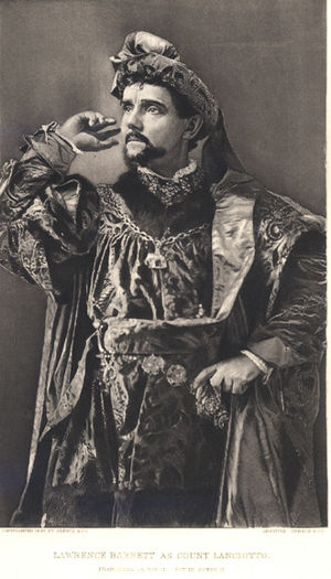 Lawrence Barrett - Lawrence Barrett as Count Lanciotto, 1887