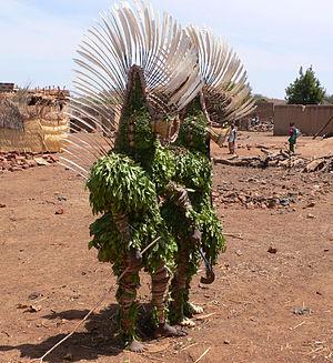 Art of Burkina Faso - Leaf masks, Bwa village of Boni, 2006