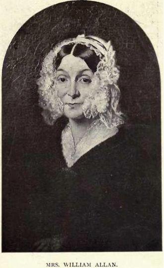 George William Allan - Image: Leah Allan wife of William Allan